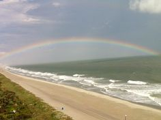 A gorgeous rainbow stretches across Myrtle Beach! I have seen this many times at the beach - and it's wonderful! Beautiful Vacation Spots, Beautiful Places To Travel, Beautiful Beaches, Beautiful World, Vacation Places, Vacation Trips, Dream Vacations, Myrtle Beach Sc, Sunny Beach