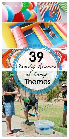 39 Family Reunion or Camp Theme Ideas Family Reunion Themes, Family Reunion Activities, Family Games, Games For Kids, Fun Activities, Family Reunions, Family Picnic Games, Family Bonding, Group Games