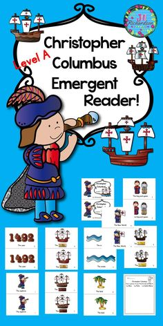 Christopher Columbus Emergent Reader Guided Reading Level A will help your early readers celebrate Columbus Day!  Included: 9 page booklet in color and black and white Uses the sentence frame... The ________. 1 printable included (The children will draw a picture of their favorite ship and label it.  Let the children put the book in their book boxes and practice reading for a week! Take it home and read it again and again!