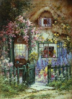 Alfred de Breanski A Wayside House Painting | Best A Wayside House Paintings For Sale
