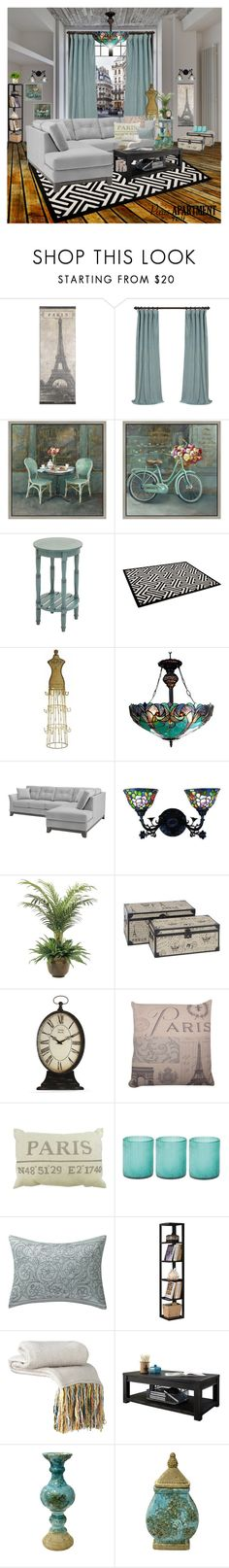 """""""The Perfect Paris Apartment"""" by talvadh ❤ liked on Polyvore featuring interior, interiors, interior design, home, home decor, interior decorating, Marc, Green Leaf Art, Benzara and Chloé"""