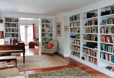 Home Library of Claire Messud and James Wood via Flavorwire