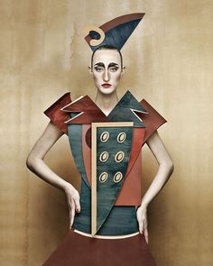 Swiss/Italian photographer Christian Tagliavini, 1971, presented his new series to the world only a few days ago.  They are portrayed in solemn, die-cut costumes. In 2008 he made his the series Dame di Cartone (Cardboard Ladies). He's a fan of Erwin Olaf (;-) :: www.christiantagliavini.com