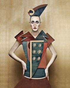"""Dame di Cartone (""""Cardboard Ladies"""") by Swiss-Italian photographer Christian Tagliavini"""