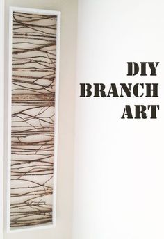 Branch Art- I love this for a powder room or a dual purpose room! #DIY