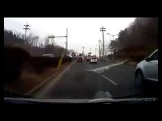 Flying SUV Crashes Through Windshield in Korea.  Headfirst Car Crash.  C...