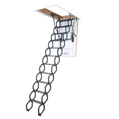 Insulated Steel Attic Ladder - The exquisitely designed Fakro ft. Insulated Steel Attic Ladder keeps your heating costs down and your climb to the loft a safe one. Attic Ladder, Attic Stairs, Loft Ladders, Attic Loft, Attic House, Attic Office, Attic Window, House Stairs, Attic Renovation