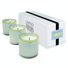 LAFCO House & Home Beach House Three Mini Candles (Sea and Dune)