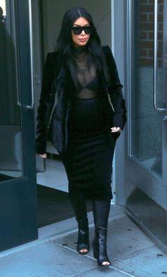 Kim Kardashian Photos - Kim Kardashian and Kanye West Head to the US Open Tennis Tournament - Zimbio