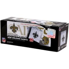 Spectrum 5815-20008 NFL Plastic New Orleans Saints Sandwich Press to Close Bag (Pack of 50) by Spectrum. $4.00. Show off your team pride with the new Officially Licensed New Orleans Saints sandwich bags. Our Press to Close printed bags are 100 percent leak proof making them both durable and fun. Perfect for your favorite sandwich, snack or goodie bag. Carry your team with you wherever you go.