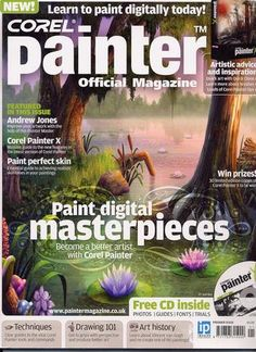 Corel Painter Magazine 1 free edition a free copy of Corel Painter Magazine Aspiring Artist, Painting Tutorial, Learn To Paint, Photoshop Design, Corel Painter, Painter, Painting Style, Digital Artists, Digital Painting