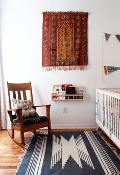 The cotton rug is from Joinery.