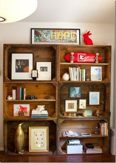 wine crate wall case
