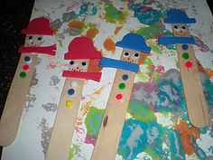 Snowmen Bookmarks from Sippy Cup Central