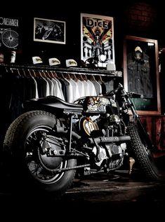"1972 Harley Davidson Ironhead Sportster, ""The Drayton Porkchop"" by Boneshaker Choppers and ILoveDust"