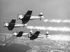 Os North American AT-6 Texan voaram na Esquadrilha da Fumaça entre 1952 e 1963, e de 1972 a 1976.