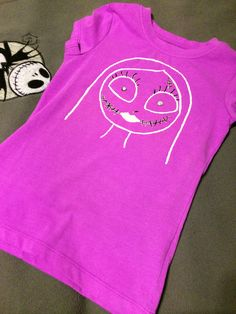 Glow-In-The-Dark Sally from Nightmare Before Christmas T-Shirt by YGcrafts on Etsy