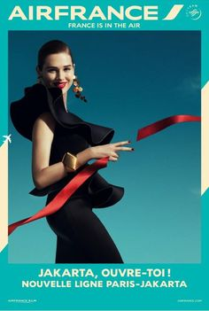 Air France France is in the Air 2 featuring Anais Pouliot: a series of fashionable destinations