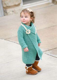 Blanket Cardigan for girls, free crochet pattern
