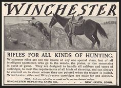 1905 Winchester Rifle Advertisement.