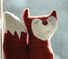 RibTickler Wool Fox Frank by lorinichols on Etsy, $38.00,- its so cute!