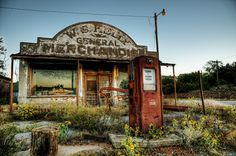 "Cogar, Oklahoma, gas station featured in ""Rain Man""; photography by fireboat895 from Flickr."