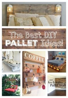 The Best DIY Wood & Pallet Ideas - everything from home decor, garden, storage, patio furniture, and outdoor easy to make ideas!