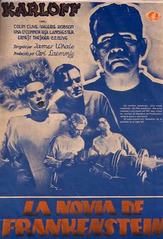 The Bride of Frankenstein Horror Movie Posters, Film Posters, James Whale, Sci Fi Horror, Horror Art, Monster Stickers, Monster Illustration, Halloween Icons, Frankenstein's Monster