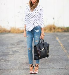How to Wear a polka dot shirt [10 pics] | Fashion Inspiration Blog