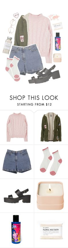 """""""annyeonghiiii"""" by xxbohemian-saillxx ❤ liked on Polyvore featuring interior, interiors, interior design, home, home decor, interior decorating, Topshop, Ann Taylor, Henri Bendel and Manic Panic"""