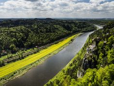 View on river Elbe from Bastei by Lukas Slavick on 500px