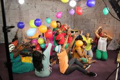 Music Video Shoot. Balloons. Celebration. Hold On. Bambelela. South African Music. Colour