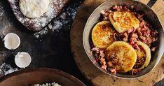 Potatisbullar med rödlök och fetaost