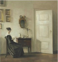 This painting by Carl Vilhelm Holsøe showed up in the U.S., and led to the thief in Denmark.