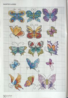 Cross-stitch Butterflies... no color chart, just use pattern chart as your guide Gallery.ru / Фото #13 - Cross Stitcher №237 апрель 2011 - 19Edinorog87