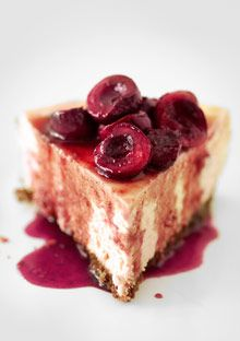 goat cheese cherry cheese cake - like cream cheese cake, but a much more interesting experience.