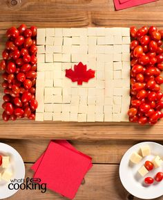 Hosting a party for Canada's birthday? Our Canada Day Cheese Board is just the thing to get the party started! Bbq Canada, Canada Day Party, Canada 150, Canada Day Fireworks, Canada Day Crafts, Canada Birthday, American Flag Crafts, Party Food Platters, Farewell Parties