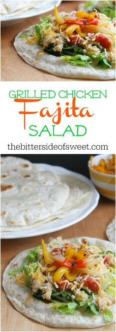 Grilled Chicken Fajita Salad | The Bitter Side of Sweet #sponsored #ad #summergoodness