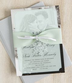 Add a little flair to your wedding invitations with this winter DIY.