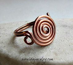 How to Make a Spiral Wire Ring zoraidabros