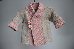 shawl collar baby coat pattern by Kristi Morrow