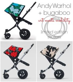 bugaboo Andy Warhol limited edition Cameleon Strollers