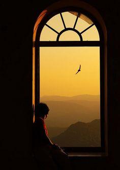 An inspiring sunset takes you far, far away.