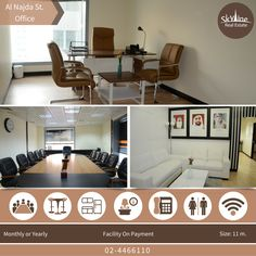 Rent now in the fully-fitted offices that's part of the Skyline Business Center. With different sized and prices available plus facilities on payments. Call now: 02-4466110 The Skyline Business Center.. placing your business in the center
