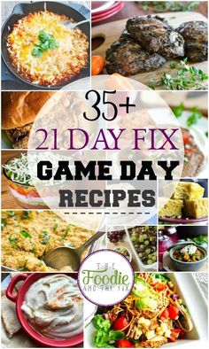 Healthy, 21 Day Fix Game Day Recipes! From dips and snacks to chillis and sides, I've got you covered for Super Bowl Sunday!
