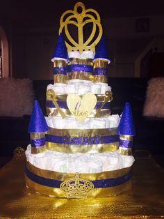 Royal baby shower diaper cake