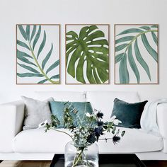 Style Your Home Today With This Amazing 3 Panel Nordic Leaf Unframed Modern Wall Canvas For $42.00  Discover more canvas selection here http://www.octotreasures.com  If you want to create a customized canvas by printing your own pictures or photos, please contact us.