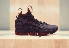 The Nike LeBron 15 New Heights (Cavs) is featured in a closer look and it's dropping on December 1st.
