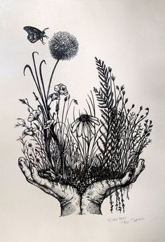 All Posters - Beehive Design Collective Store Nature Tattoos, Body Art Tattoos, Art Sketches, Art Drawings, Botanisches Tattoo, Pen Art, Letterpress Printing, Art Inspo, Painting & Drawing