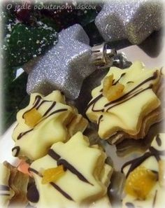 Pomarančové hviezdy - My site Christmas Sweets, Christmas Candy, Christmas Baking, Xmas Cookies, Cake Cookies, Baking Recipes, Cookie Recipes, Czech Recipes, Recipe Filing